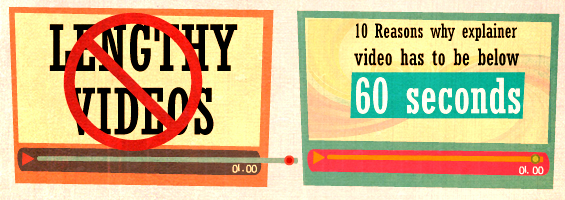10 Reasons why explainer video has to be below 60 seconds